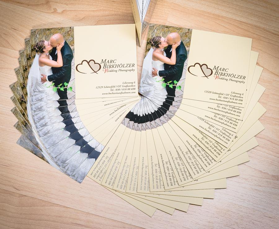 Flyer vom Hochzeitsfotograf aus Berlin Marc Birkhölzer www.hochzeitsaufnahmen,com