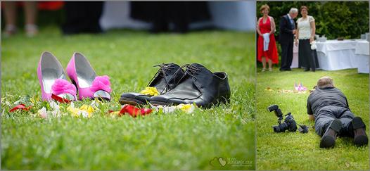 So sehen die Gäste Marc Birkhölzer als Hochzeitsfotograf wenn er während der Hochzeitsreportage fotografiert