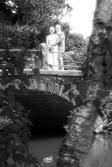 Romantisches Foto auf einer Brücke om Botanischen Garten Berlin fotografiert vom Hochzeitsfotograf Berlin Marc Birkhoelzer www.hochzeitsaufnahmen.com