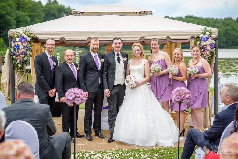 Gruppenfoto mit den Trauzeugen