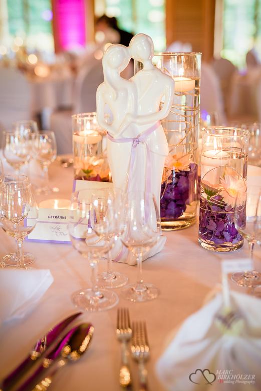 Tischdeco bei einer Hochzeit